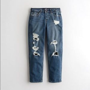 NWT Hollister Short Low-Rise Distressed BF Jeans